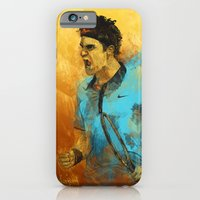 iPhone Cases featuring Roger Federer by Fresh Doodle - JP Valderrama