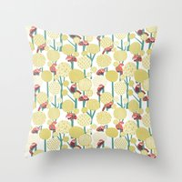 Red Panda Forest - Yello… Throw Pillow