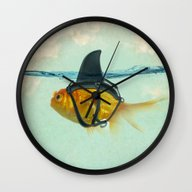 Wall Clock featuring Brilliant DISGUISE by Vin Zzep