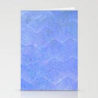 Wave Pattern Stationery Cards