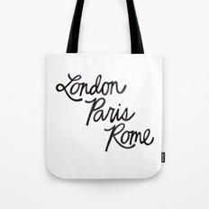 London Paris Rome Tote Bag