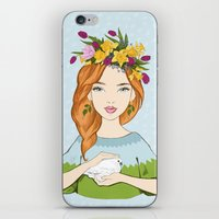 Spring girl iPhone & iPod Skin