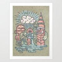Monstra Art Print