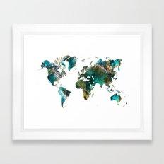 Map of the World tree Framed Art Print