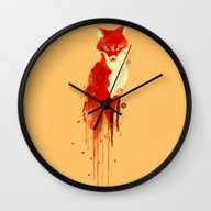 The Fox, The Forest Spir… Wall Clock