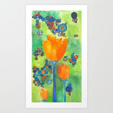 The Flower Starter Art Print