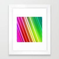 Rainbow Silk Framed Art Print