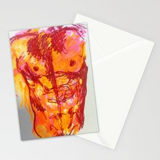 male torso summer Stationery Cards