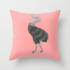 Greater Rhea Throw Pillow