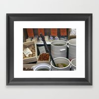 Walnuts and Olives Framed Art Print