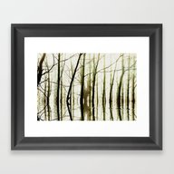 Framed Art Print featuring TREE TONES by Catspaws