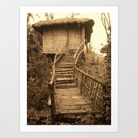 South Indian Treehouse Art Print