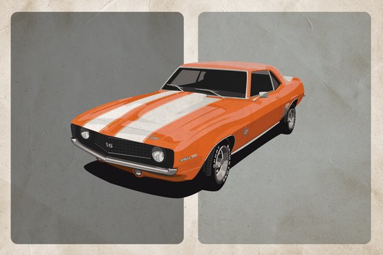 Camaro- Orange Art Print