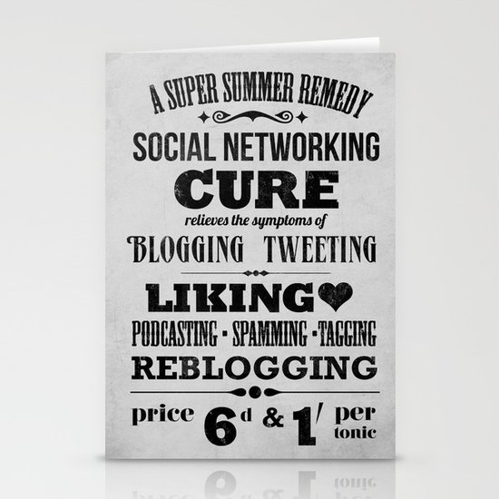 Social remedy Stationery Card