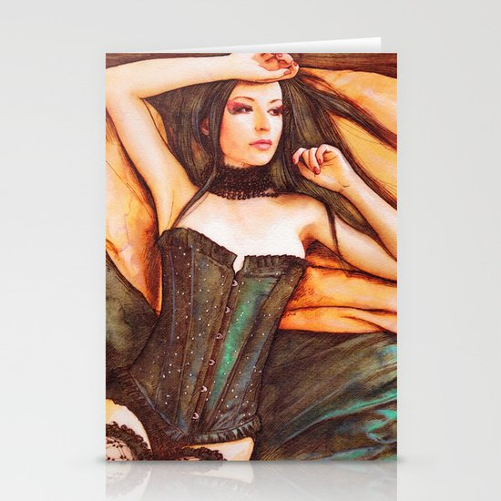 Corset Stationery Card