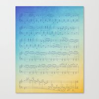 Watercolor Music Canvas Print