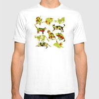 Kitchen Cats Mens Fitted Tee White SMALL