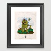 Monster robot toy Framed Art Print