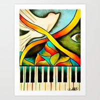 Piano- Behold Art Print