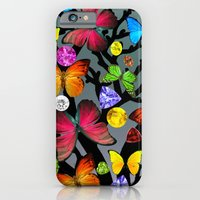 butterfly iPhone & iPod Cases featuring butterfly by mark ashkenazi