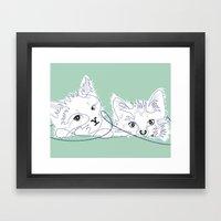 Mint Kittens 02 Framed Art Print