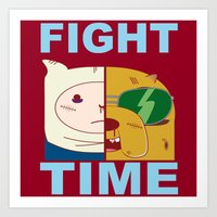 Fight Time Art Print