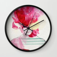 Bright Pink - Part 2  Wall Clock