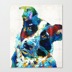 Colorful Dog Art - Irres… Canvas Print