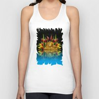Lion And Flowers Unisex Tank Top