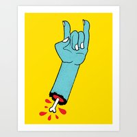 Throwin' Up The Horns Art Print