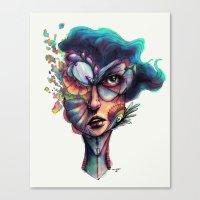 Searching Deep Blue Canvas Print