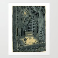 In The Howling Forest Art Print