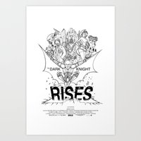 TDKR - B&W You're COLOR … Art Print