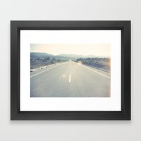 Roads I Framed Art Print
