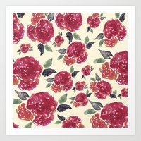 Antique Floral Art Print