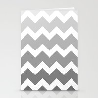 Chevron - Multi Grey Stationery Cards