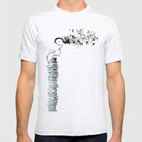 Glue Network Print Serie… Mens Fitted Tee Ash Grey SMALL