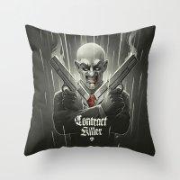 Contract Killer Throw Pillow