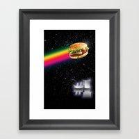 #1 Burger Framed Art Print