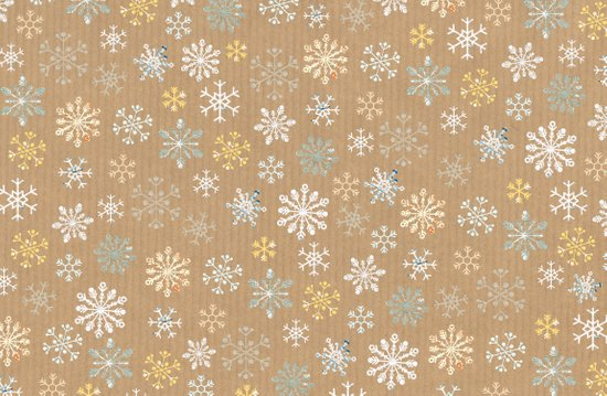 snow flakes pattern Art Print