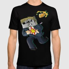 Solaire of Block - Minecraft Avatar Mens Fitted Tee SMALL Black