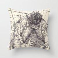 The Feverish Throw Pillow