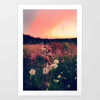 A Walk At Dusk Art Print