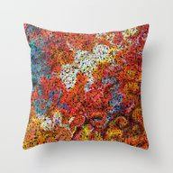 Abstract Square Throw Pillow