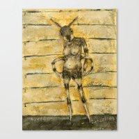 portrait of an ant Canvas Print
