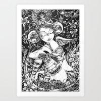 L'Ange Tombé Art Print