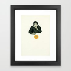 Poker Face Framed Art Print