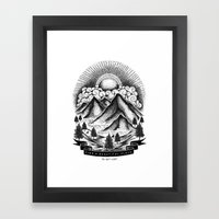 FIND A BEAUTIFUL PLACE TO GET LOST (White) Framed Art Print