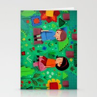 Pixel Garden Stationery Cards