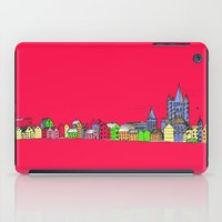 Sketchy Town in pink iPad Case